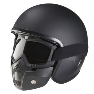 Casque jet NOX N237 aviator design RIOT