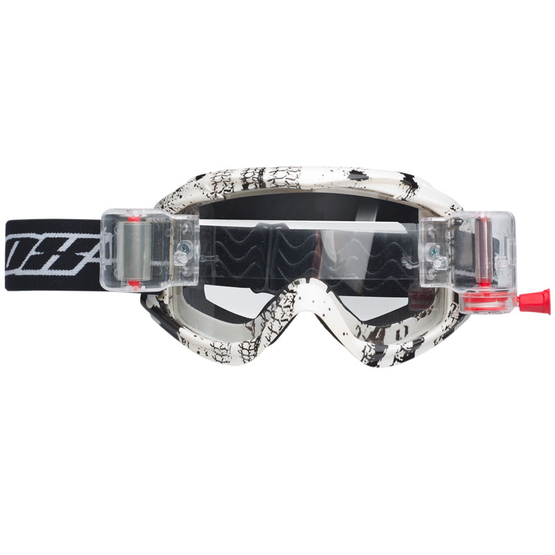 Masque cross Nox N7 roll-off blanc déco