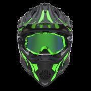 N632 Slash green face masque