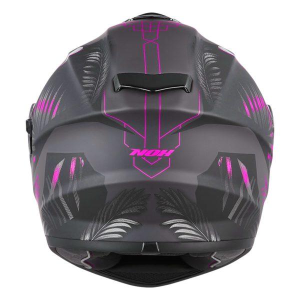 casque de moto Nox n918 JUNGLE intégral rose mat