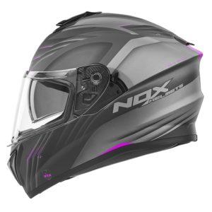 casque de moto Nox n918 UPSIDE intégral rose mat