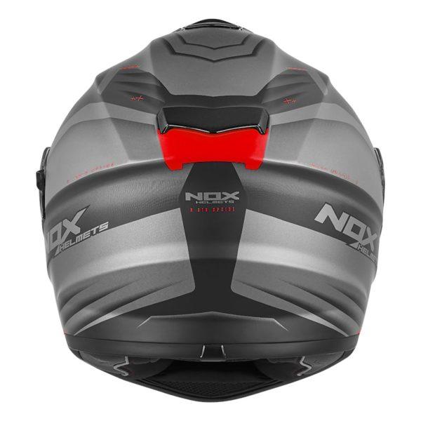 casque de moto Nox n918 UPSIDE intégral rouge mat