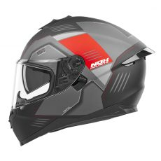 casque de moto Nox n302-S Torque intégral rouge mat