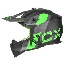 casque de moto Nox n633 VIPER cross noir mat - vert fluo