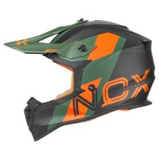 casque de moto Nox n633 VIPER cross vert - orange