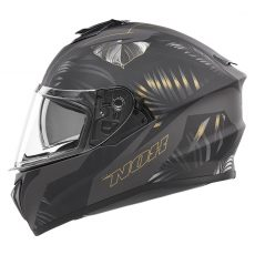 casque de moto Nox n918 JUNGLE intégral or mat