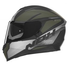 casque de moto Nox n302 intégral strabus  kaki mat