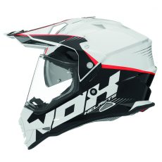 Casque de moto cross Nox n312 crow blanc