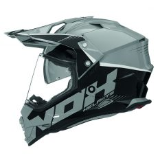Casque de moto cross Nox n312 crow gris nardo