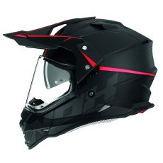 Casque de moto cross Nox n312 crow rouge