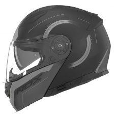 Casque de moto Nox n965 peak modulable noir mat et titanium
